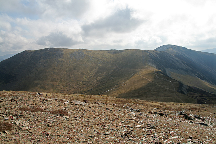 Hindscarth and Dale Head on the right from Robinson