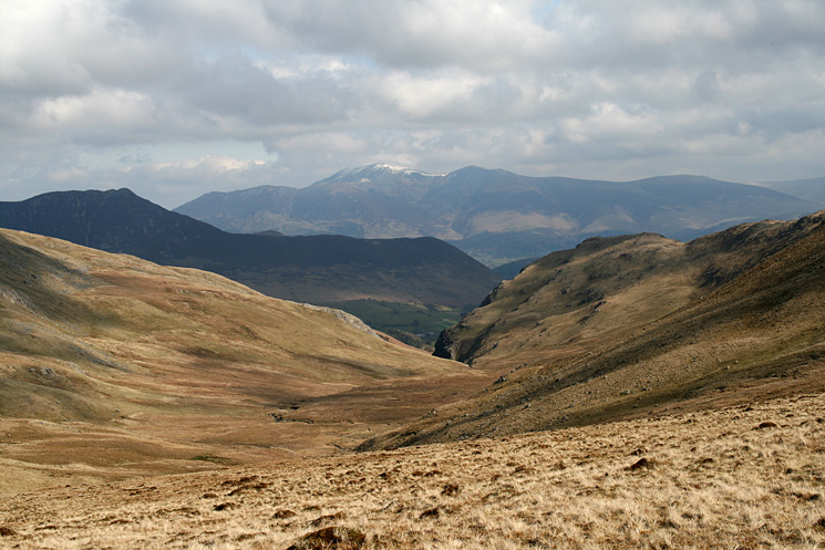 Looking down Little Dale to Causey Pike and the Skiddaw fells