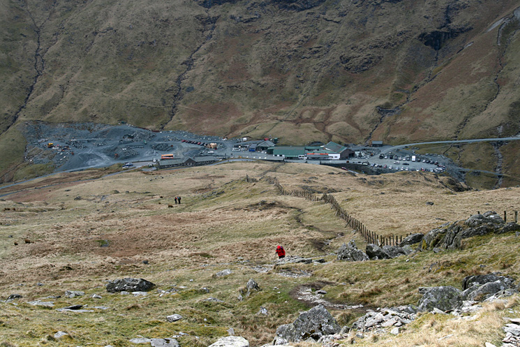 The slate mine at Honister Pass
