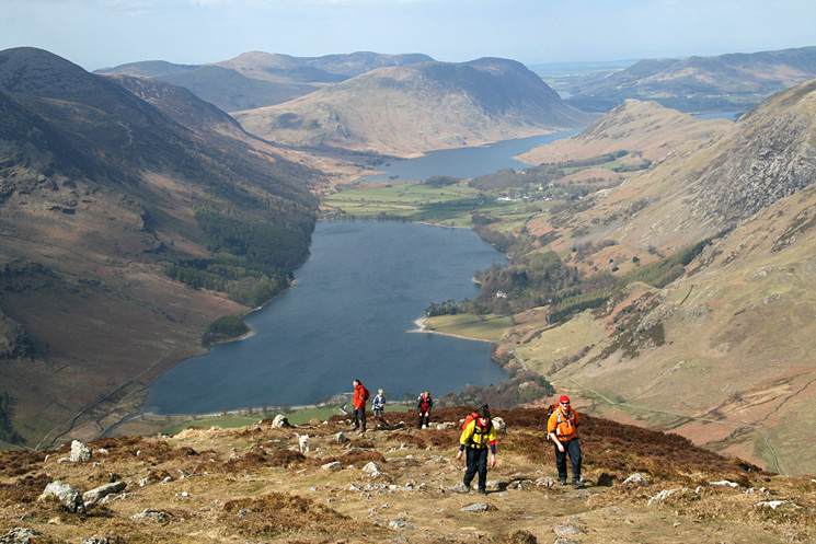 The Butteremere valley from Fleetwith Pike's summit