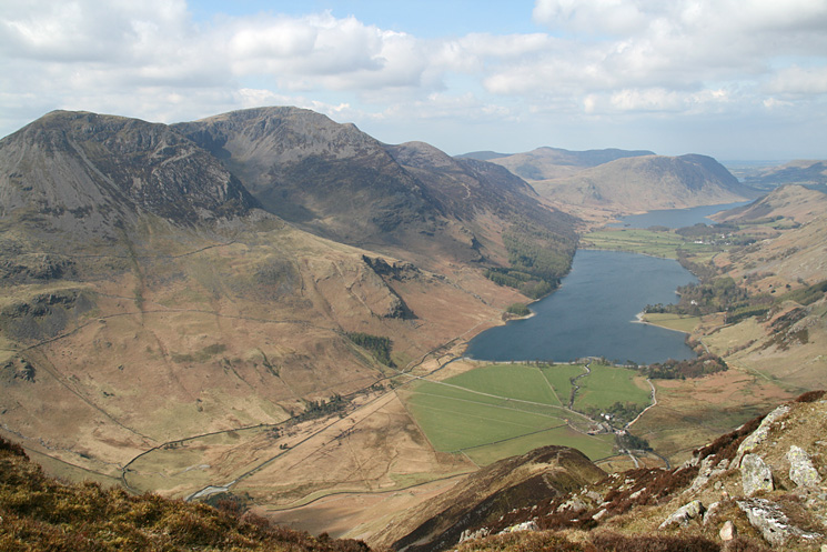 The High Stile ridge and Buttermere from Fleetwith Edge