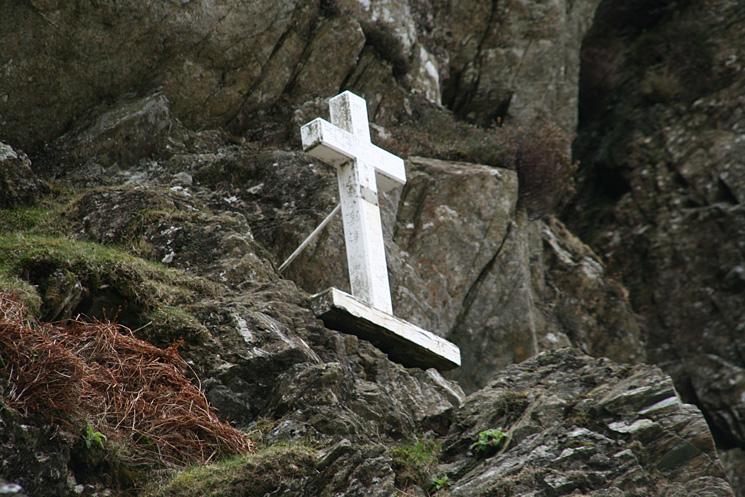 Fanny Mercer Memorial at the bottom of Fleetwith Edge