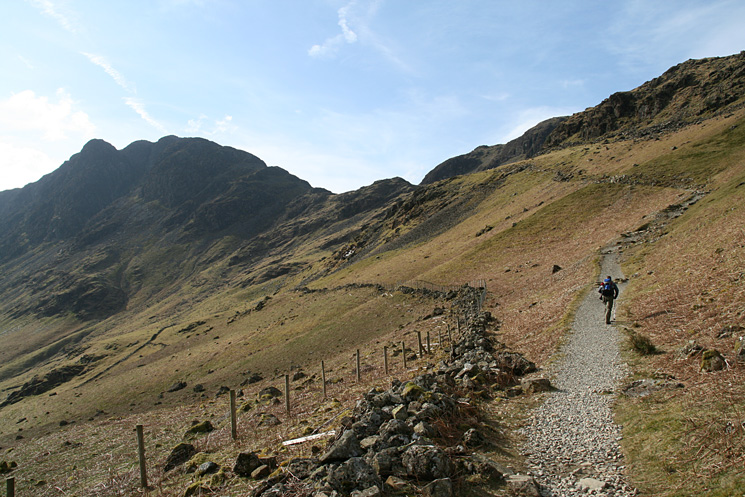 Heading for Scarth Gap with Haystacks on the left