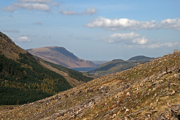 Looking down Ennerdale to Crag Fell, Ennerdale Water and Bowness Knott
