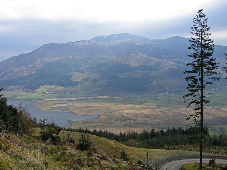 The Skiddaw fells and the head of Bassenthwaite Lake