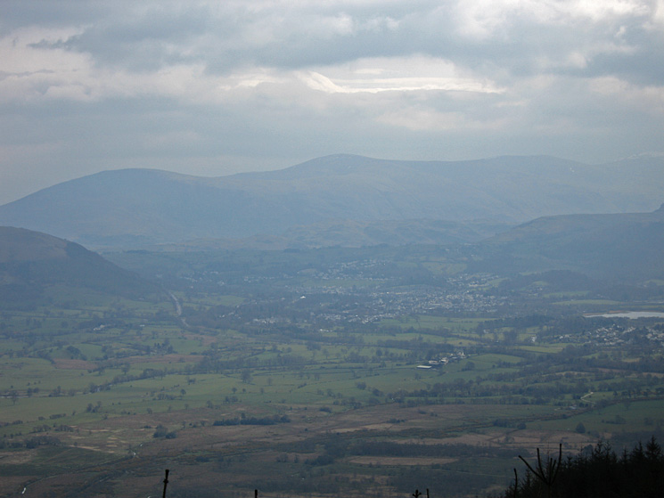 The Vale of Keswick with Clough Head and Great Dodd beyond