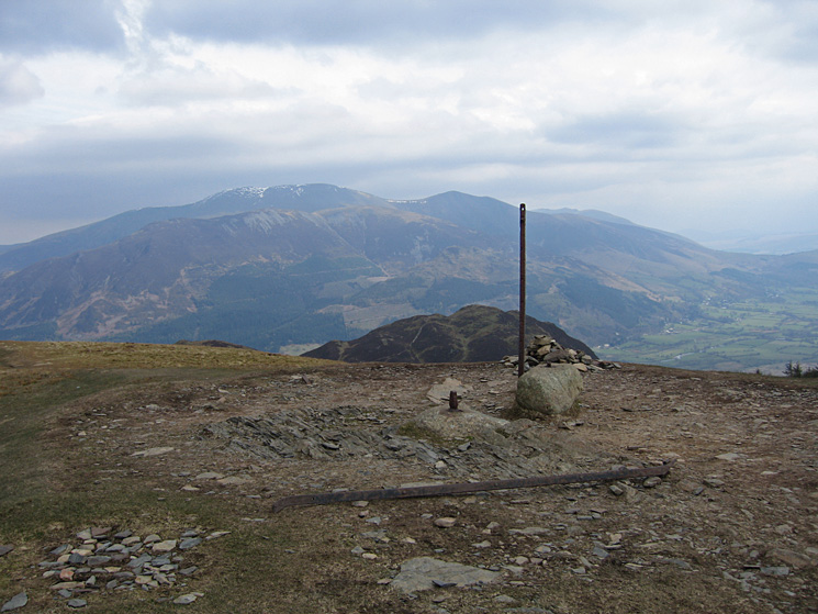 The Skiddaw fells and Barf from Lord's Seat summit