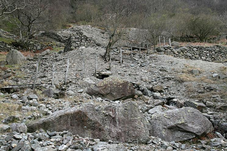 Old mine workings near Hartsop Hall