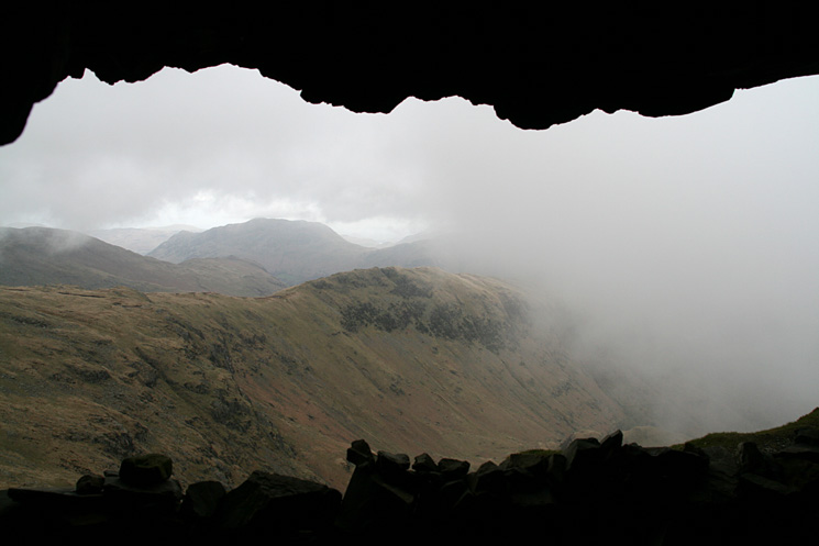 Looking out of Priest's Hole