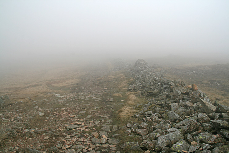 The main Fairfield Horseshoe path is gained at the col between Hart Crag and Dove Crag