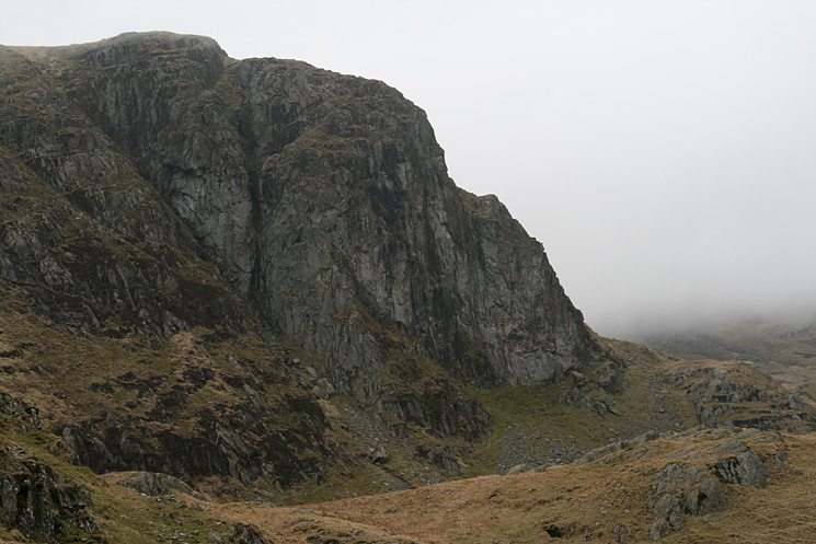 Dove Crag from the path to Stangs