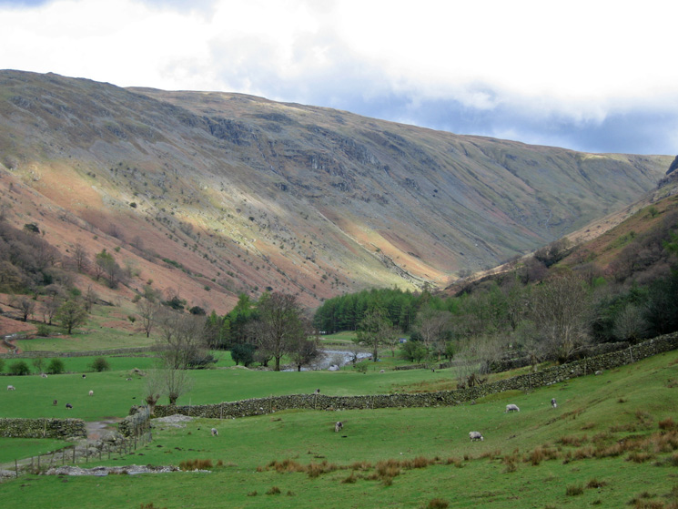 Looking towards Greenup Gill from outside of Stonethwaite