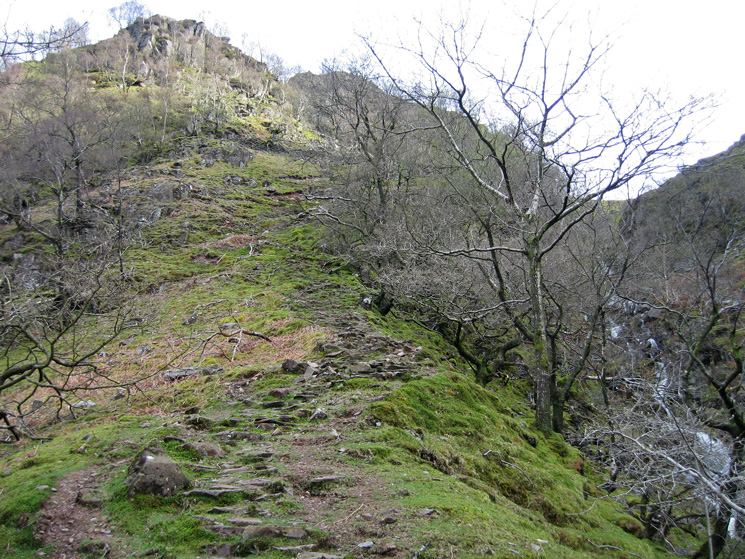 The path up by Big Stanger Gill, steeper than it looks in this photo