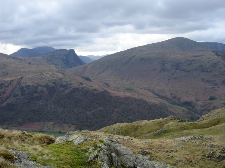 Fleetwith Pike with High Crag and High Stile behind, Dale Head on the right