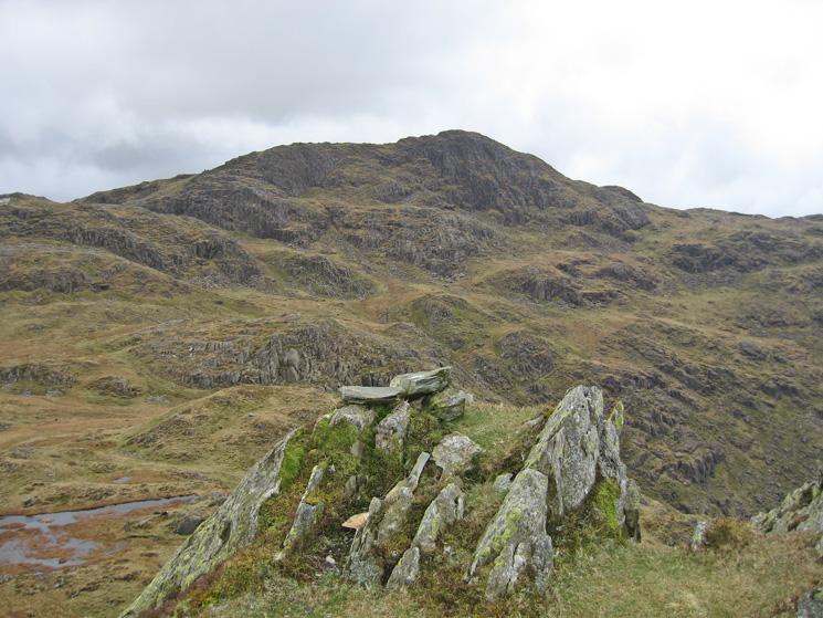 Combe Head from Rosthwaite Fell - Dovenest Crag western top