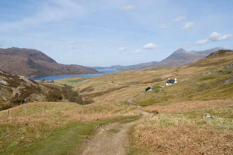 The view back from above Glenbain