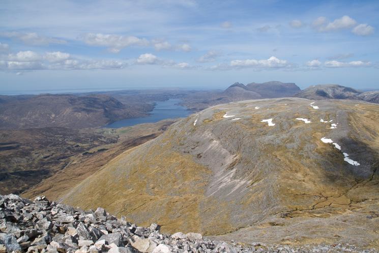Beinn an Fhurain with Loch Assynt and Quinag beyond