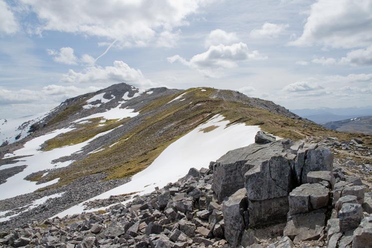 The north ridge to Conival's summit
