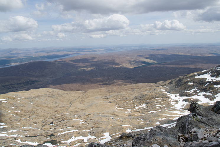 Loch Shin to the south east from Ben More Assynt's summit