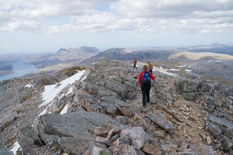 Heading down Conival's north ridge