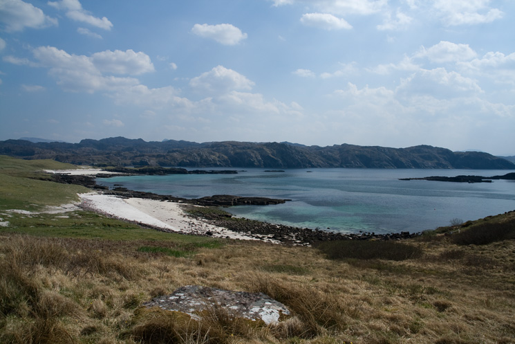 Handa beaches and the mainland beyond