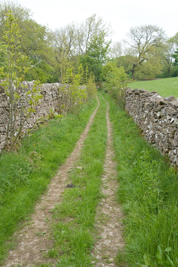 The old walled lane above Rosgill
