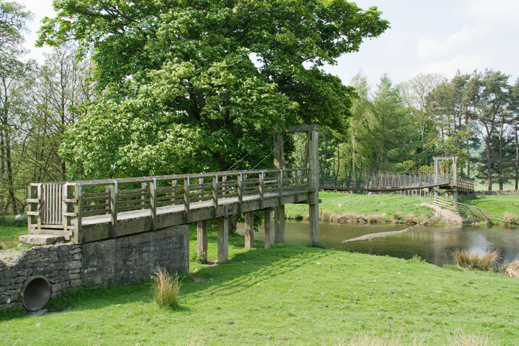 Suspension bridge across the River Lowther