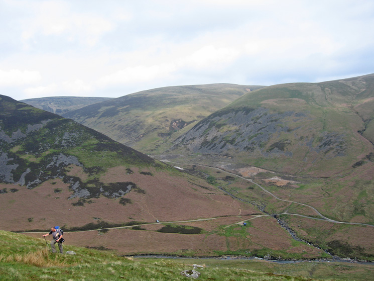 Climbing out of Mosedale onto Bowscale Fell