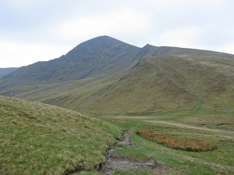 Our line of ascent onto Atkinson Pike (Blencathra)