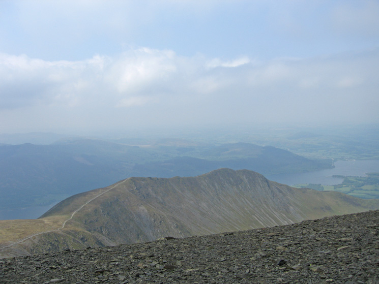 Long Side and Ullock Pike, its really windy up here!