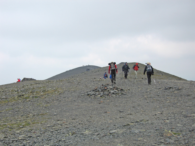 Skiddaw's summit ridge, a popular place today, we only saw about a dozen other people in total on the rest of the walk