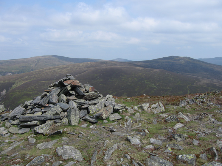 Knott and Great Calva from Bakestall's summit