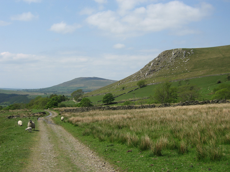 Brockle Crag with Binsey in the distance
