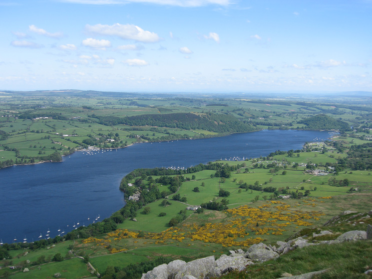 The foot of Ullswater from the beacon on Arthur's Pike