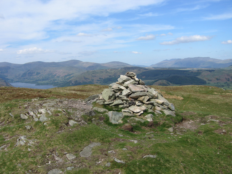 The Dodds and Blencathra from Arthur's Pike summit cairn