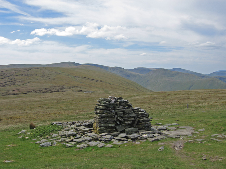 Looking south towards High Raise (the Martindale one) from the remains of Lowther House