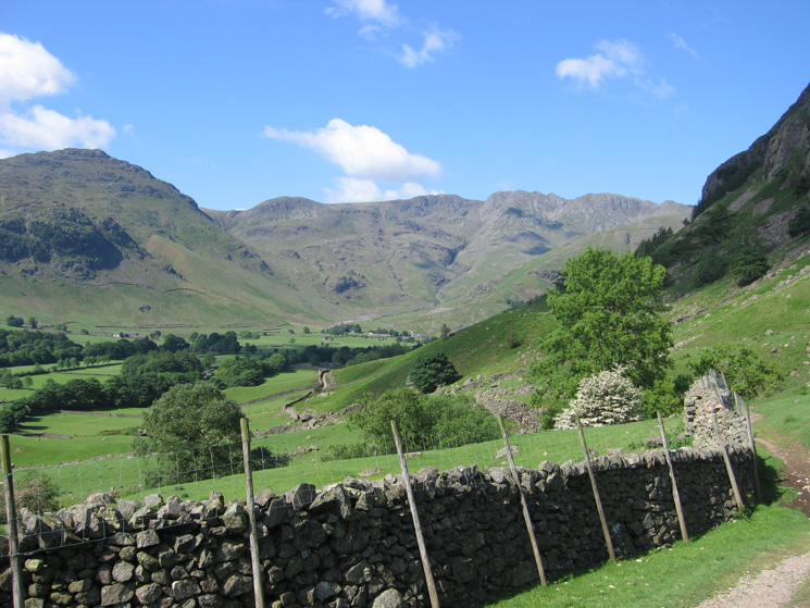 Crinkle Crags with Pike o'Blisco on the left from above Stickle Barn