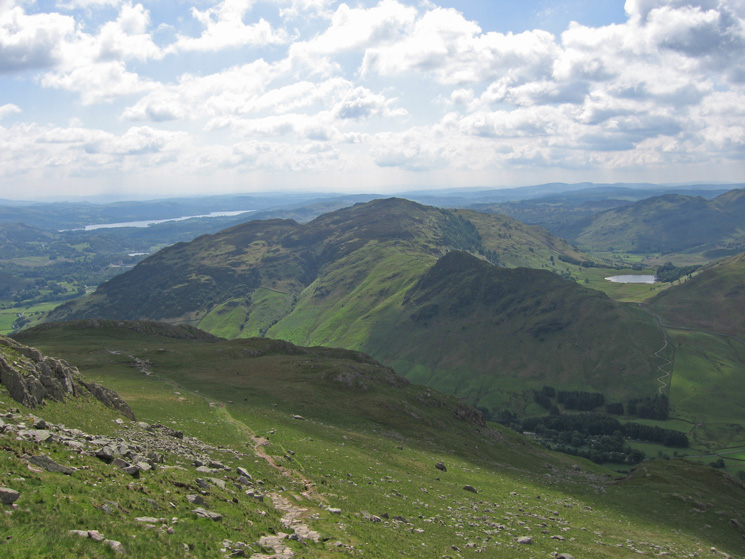 Windermere, Lingmoor Fell and Blea Tarn from the ascent