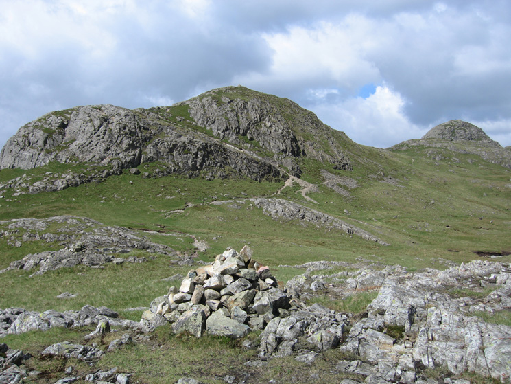 Loft Crag and Pike o'Stickle from Thorn Crag's summit