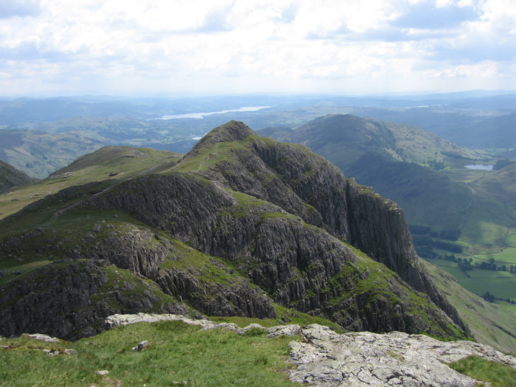 Loft Crag from Pike o'Stickle's summit