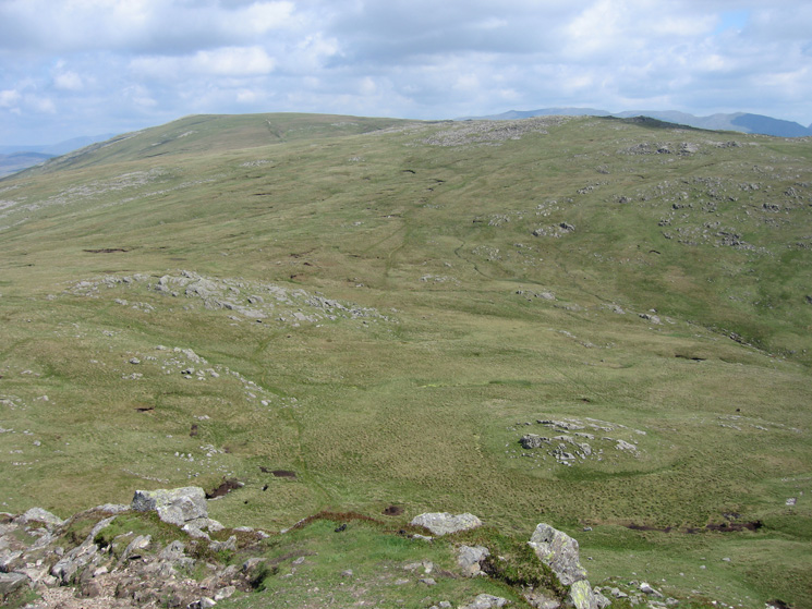 Our path across Harrison Combe to Thunacar Knott from Pike o'Stickle