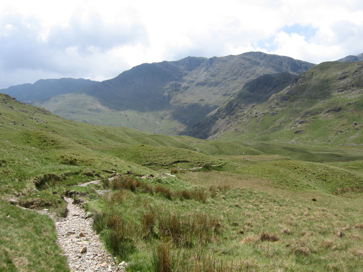 Langdale Combe with Bowfell ahead