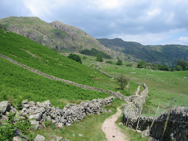 The track back to the New Dungeon Ghyll