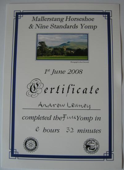 Yomp Certificate