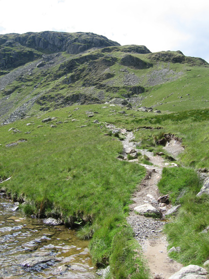 Mardale Ill Bell's east ridge from Small Water with Piot Crag on the skyline