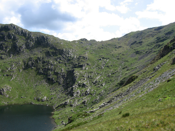 Small Water and Nan Bield Pass from Mardale Ill Bell's east ridge