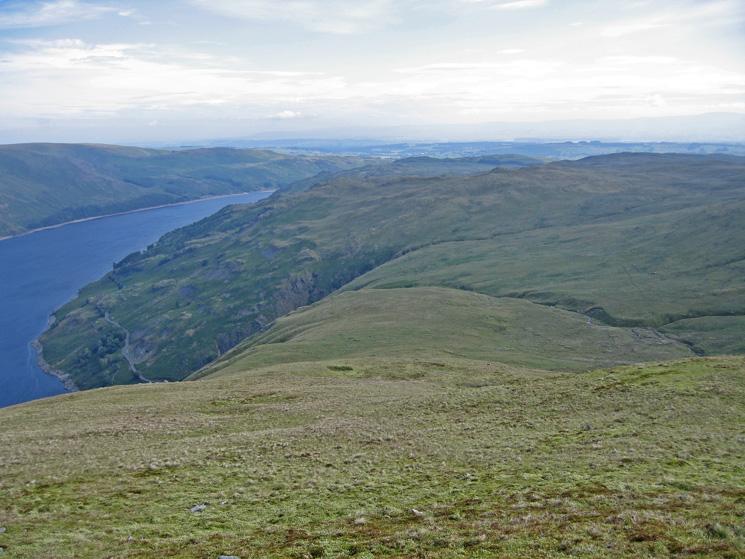 Looking back down Branstree's north ridge