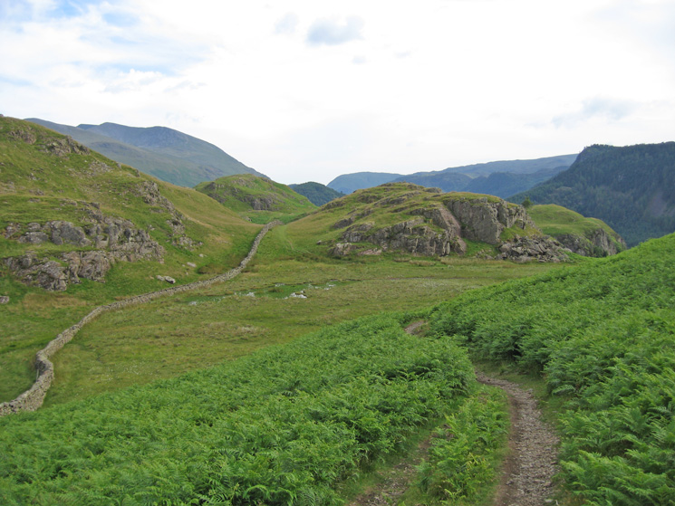 The path south across High Rigg