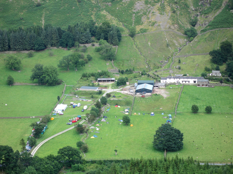 Fornside, event centre for the Saunders Lakeland Mountain Marathon (SLMM) this weekend