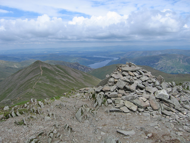Helvellyn's summit cairn is growing